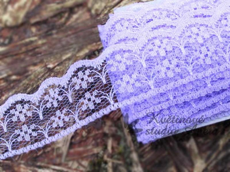Polyesterová krajka fialová 20mm - Obrázek č. 1