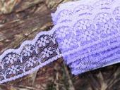 Polyesterová krajka fialová 20mm,