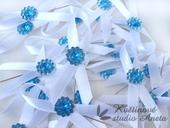 Svatební mašličky smyčky modré,