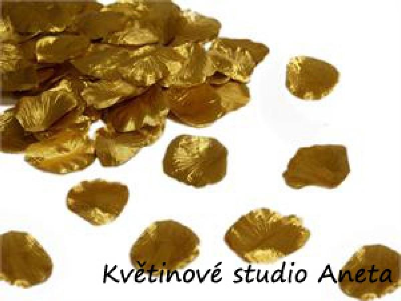 Okvětní plátky zlaté 100ks - Obrázek č. 1