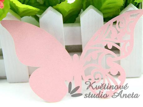 Jmenovka motýlek růžový s perletí - Obrázek č. 1