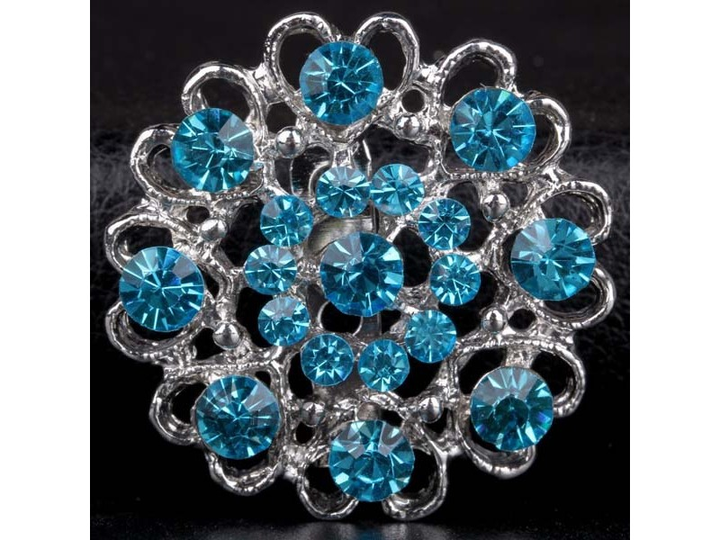 Štrasová brož modrá - Obrázek č. 1