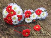 Brillant Flowers - svatební kytice z cínií,