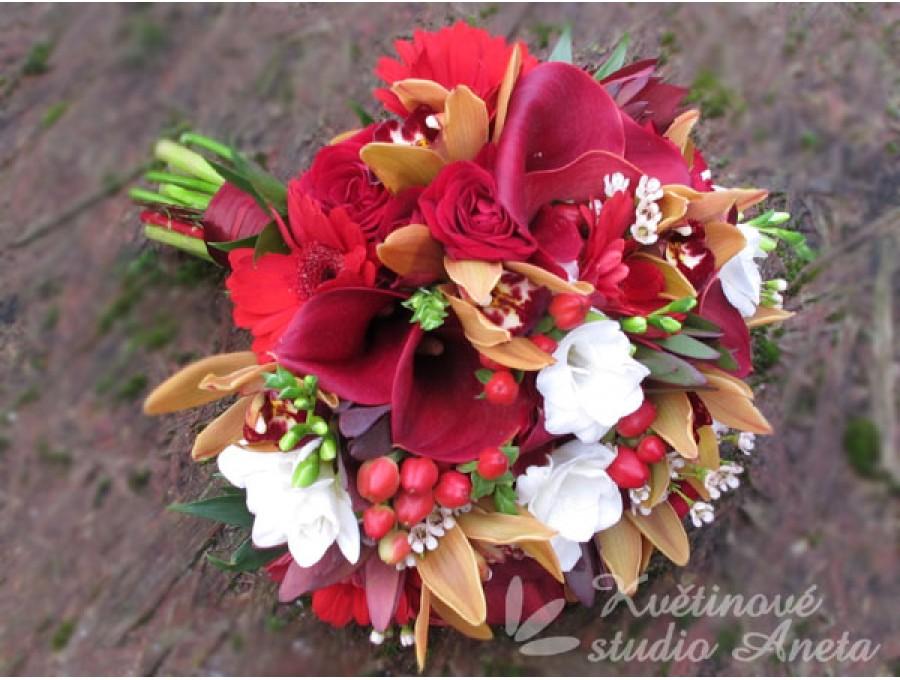 Svatební kytice v podzimních barvách - Obrázek č. 1
