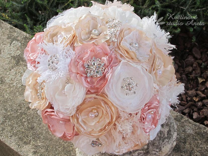 Schabby Shick  svatební kytice  - Obrázek č. 1