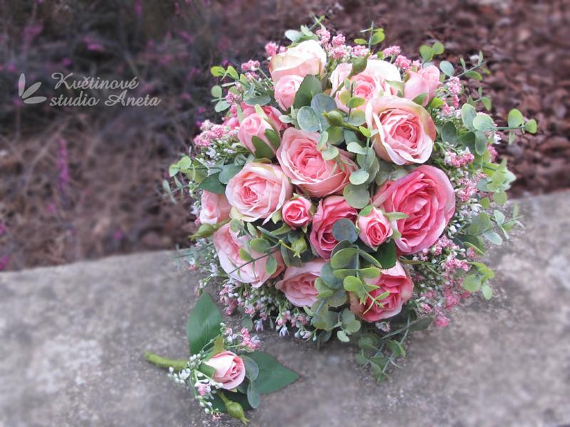 """Romantic Flowers """"Trsové růže s eukalyptem"""" - Obrázek č. 1"""