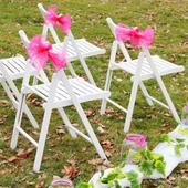 Dřevěná židle + organza zdarma,
