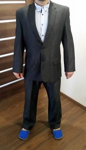 pansky tmavo sedy oblek - Obrázok č. 1