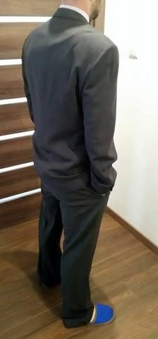 pansky tmavo sedy oblek - Obrázok č. 2