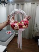 svadobny dekorativny veniec,