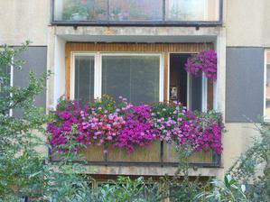 tak a toto byl muj balkon v byte, kde již nebydlím