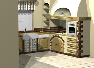 Bude murovana kuchyna...