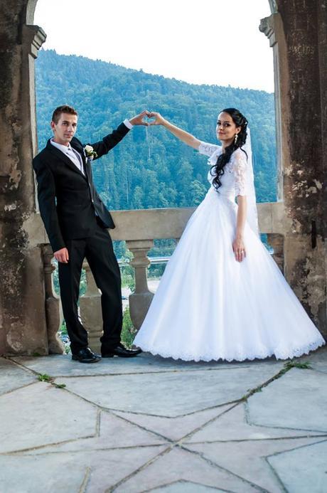 princeznovské svadobné šaty veľkosť od 34-38 - Obrázok č. 2