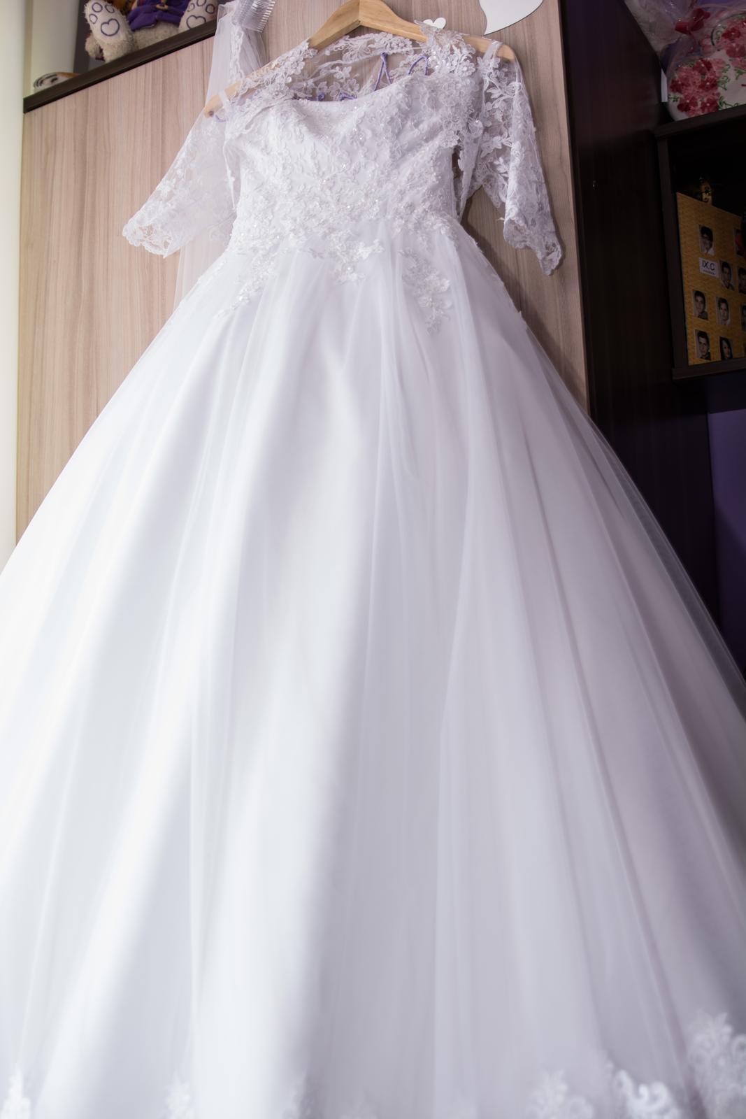 princeznovské svadobné šaty veľkosť od 34-38 - Obrázok č. 1