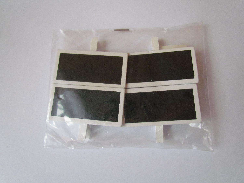 4 ks dřevěných cedulek s kolíčkem - Obrázek č. 1