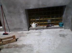 Nový beton na terase