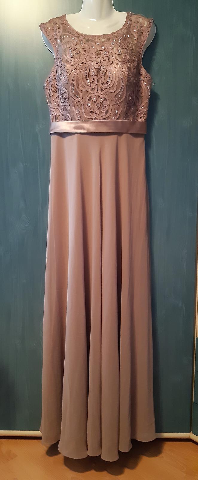Dlhé spoločenské šaty +šál - Obrázok č. 1