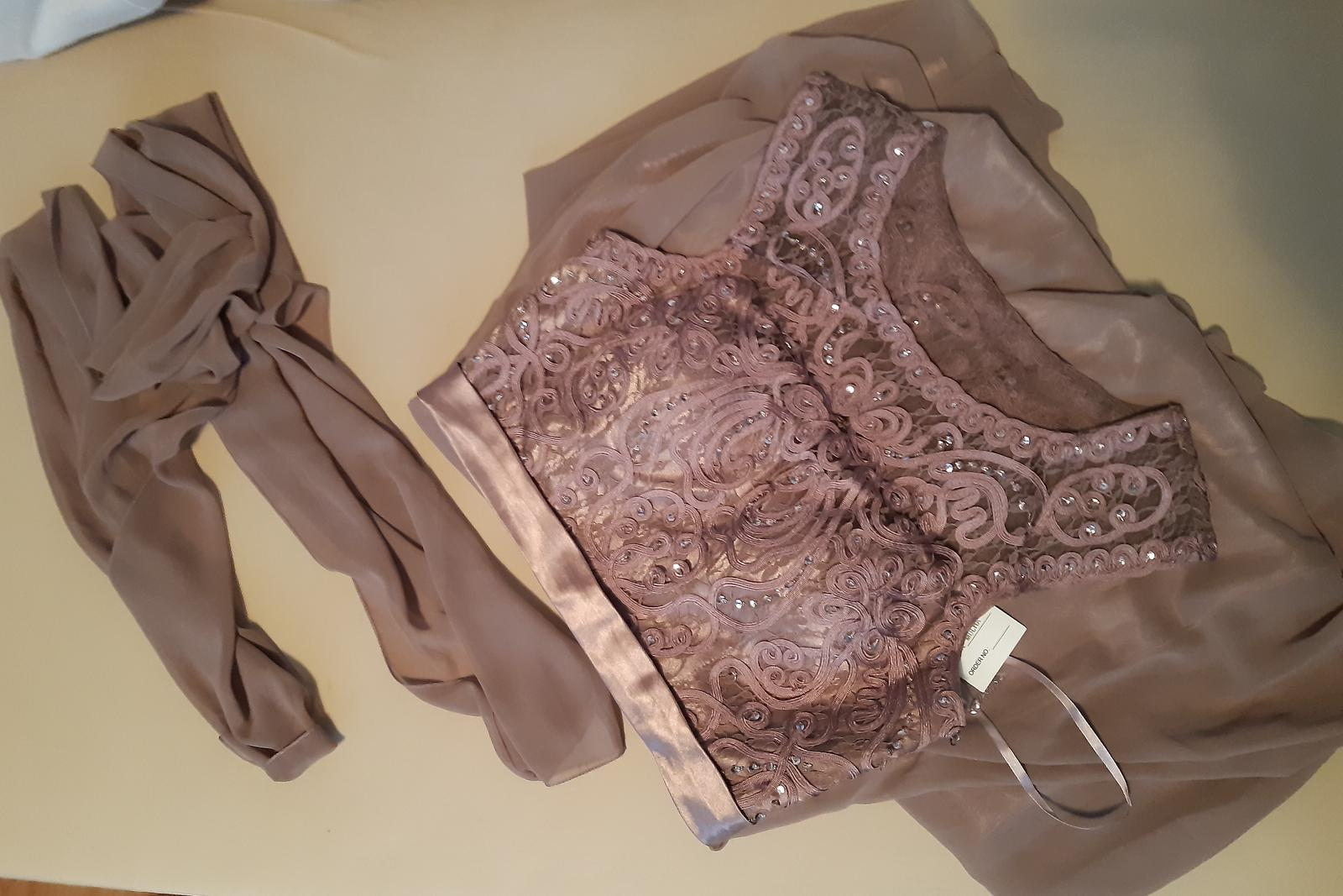 Dlhé spoločenské šaty +šál - Obrázok č. 3