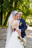 Netradičné dvojdielné svadobné šaty, 38