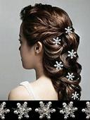 květy do vlasů,