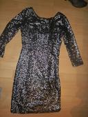 flitrové šaty, XS