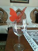 Menovky na poháre - motýľ,