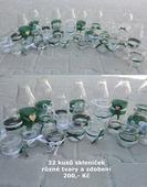 32 kusů skleniček,