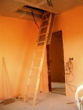 půdní schody namontovány