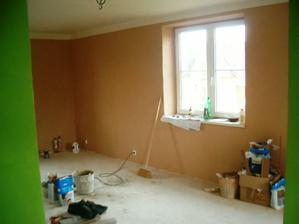 vymalovaný obývák