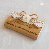 Zdobenie na darčekové čokoládky Vintage 5,