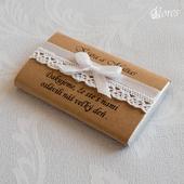 Zdobenie na darčekové čokoládky Vintage 1,