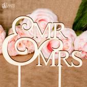 Ozdoba na tortu Mr a Mrs,