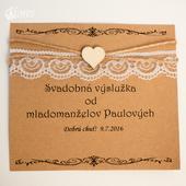 Svadobné etikety na zákusky Radosť z lásky,