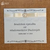 Svadobné etikety na zákusky Pohladenie luxusu,