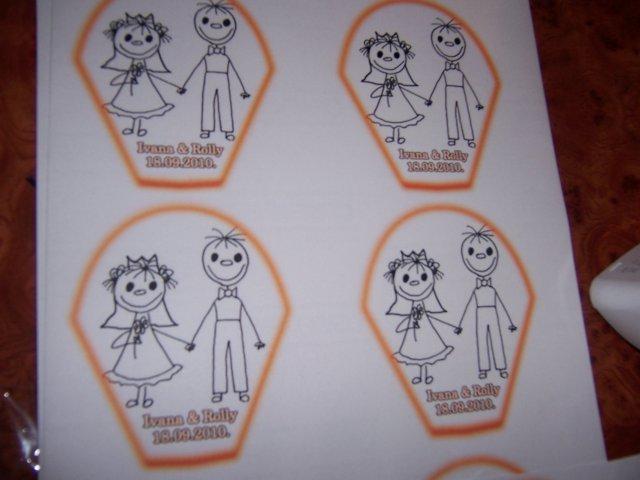 My- nase predstavy a skutocnost:) - toto su etikety co sme lepili na flasticky s palenkou:))