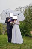 Těhotenské svatební šaty, vhodné i pro plnoštíhlé, 40