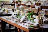 Kompletní set pro dekoraci svatby v dřevěném stylu,