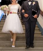 Retro folk svadobné šaty, 38