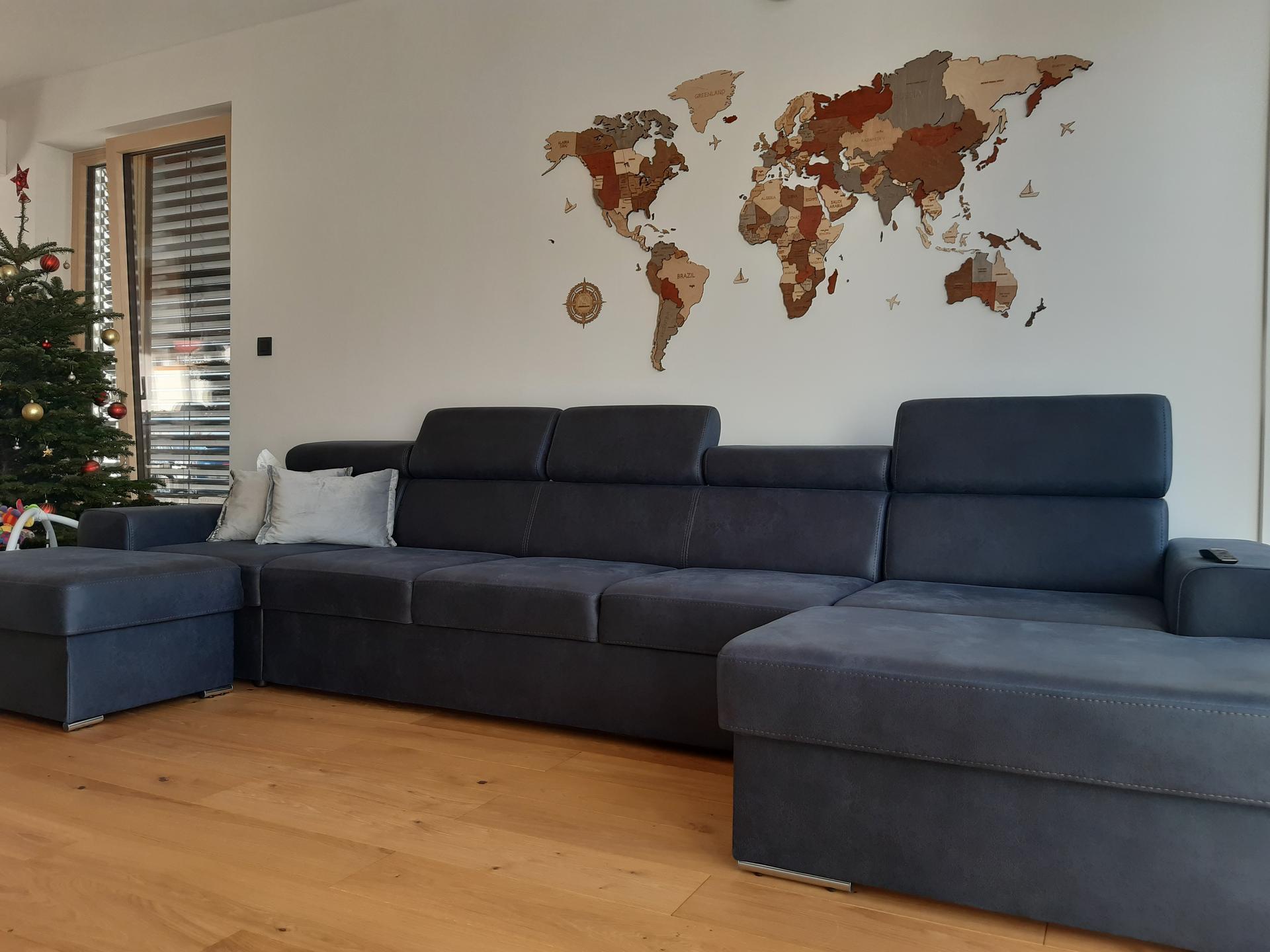 Zariadujeme nas domov pri Dunaji - Mapa sveta na dekoraciu a dovzdelavanie sa