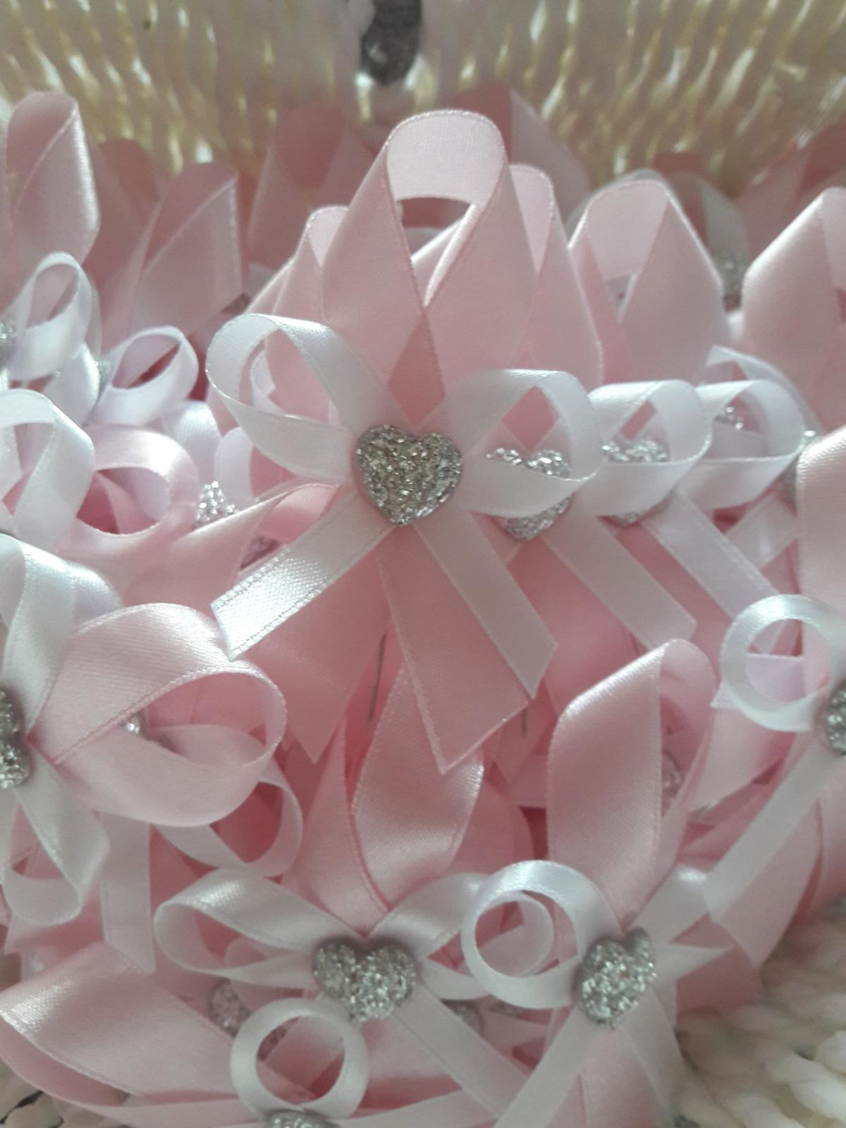 Svadobné pierka - pastelová ružová / babypink - Obrázok č. 1