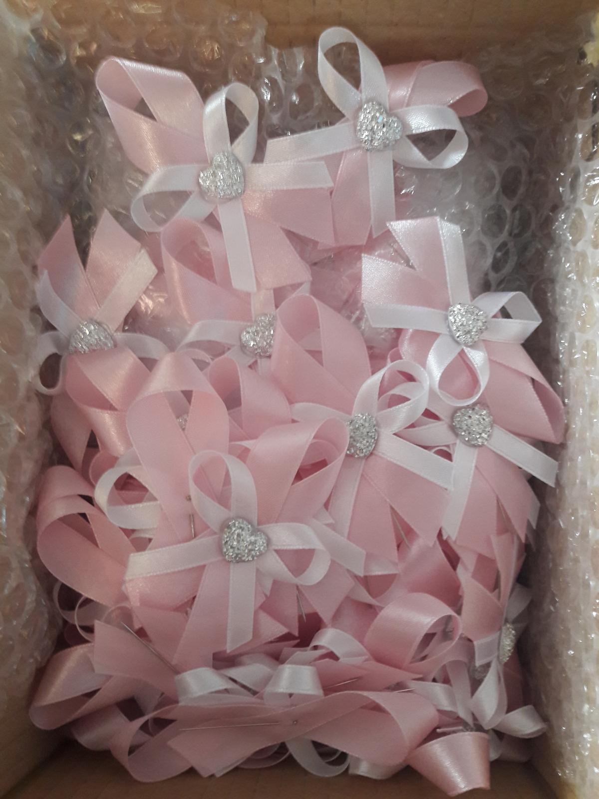 Svadobné pierka 70 ks - pastelovo ružová / babypink - Obrázok č. 2