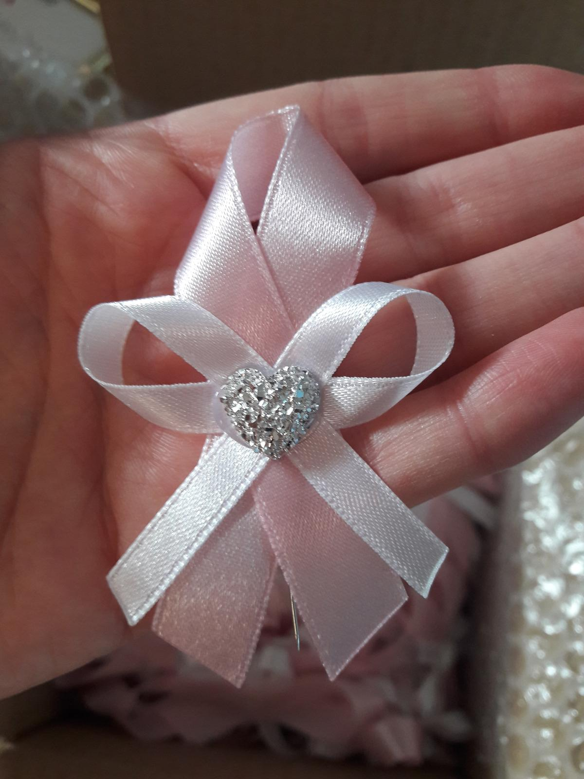 Svadobné pierka 70 ks - pastelovo ružová / babypink - Obrázok č. 3