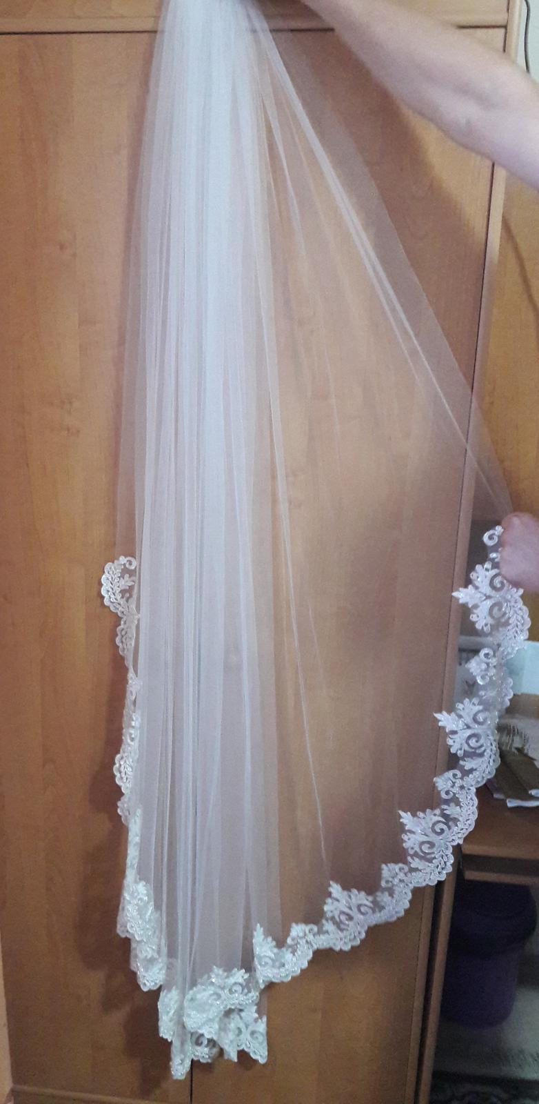 Svadobný závoj- Ivory, španielská čipka - Obrázok č. 2