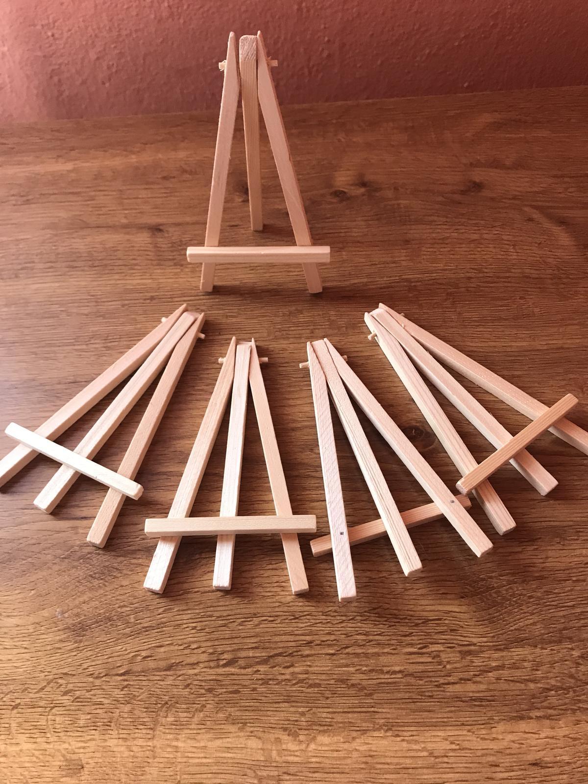 Drevené stojany na čísla stolov/fotky - Obrázok č. 1