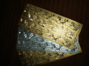 Na kartičky s pozváním ke svatebnímu stolu nebo na rozlučku(samolepící konturky)