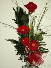 Tuhle krásnou kytičku mi přinesl miláček k Valentýnu ...