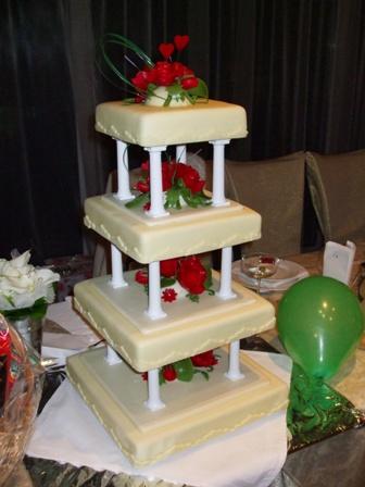 Katka{{_AND_}}Robko - svadobná torta