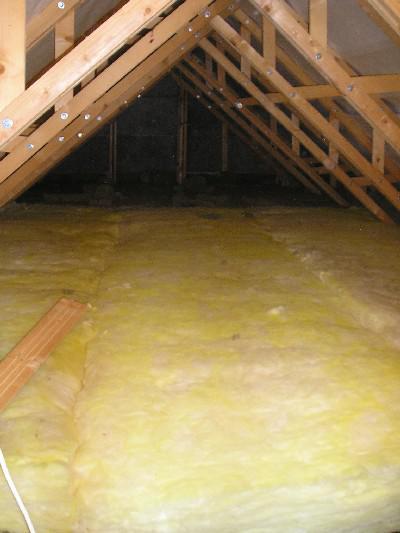 Energeticky pasívna drevostavba svojpomocou - strop hotovo