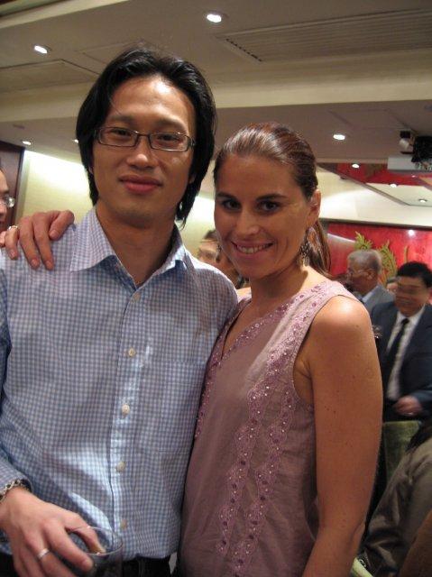 HONG KONG SVATBA (ocima ladidy..;-) - to jsem ja s mym kolegou ktery byl tez hostem