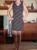 Společenské šaty - blýskavý super vzor, 38